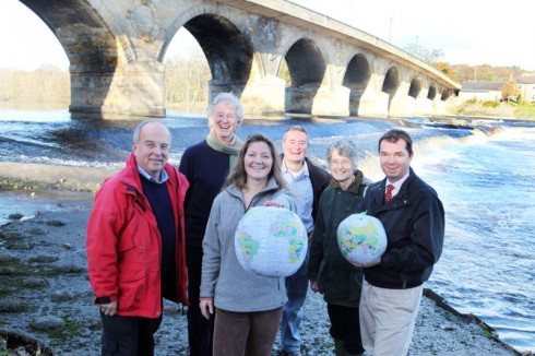Gillain Orrell of Hexham River Hydro, front centre (holding globe).