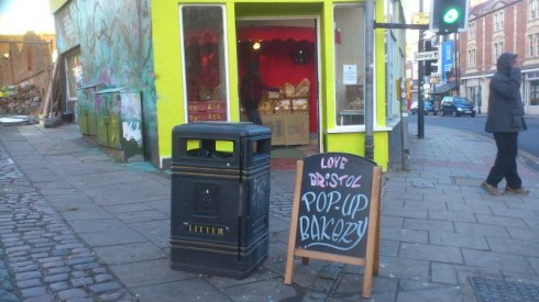 A pop-up bakery I recently spotted in Bristol.