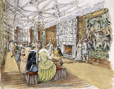 An artist's impression of one of Edward Seymour II's parties at the Castle.