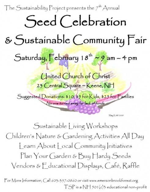 Keene Seed Celebration Poster