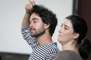 Juan del Rio and Filipa Pimentel at the workshop on Transition and austerity.
