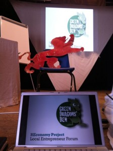 The Red Lion meets the Green Dragons in the Dragons' Den (Photo: Hal Gilmore).